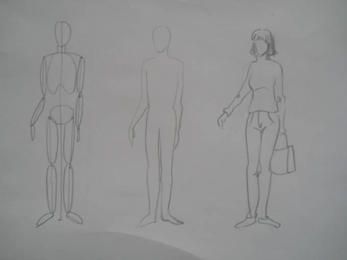 как нарисовать человека карандашом результат