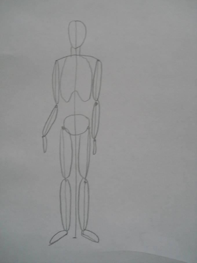 как нарисовать человека рисуем руки и ноги овалами
